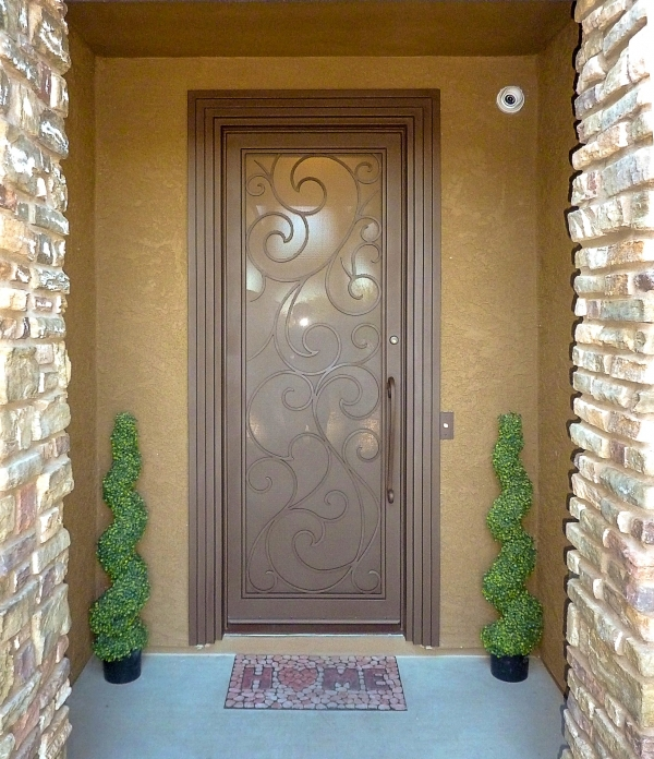 Custom Scroll Iron Entry Door