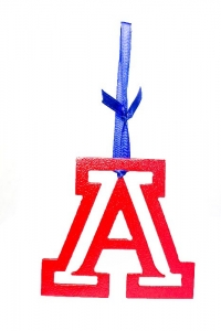 Block A ornament (red)